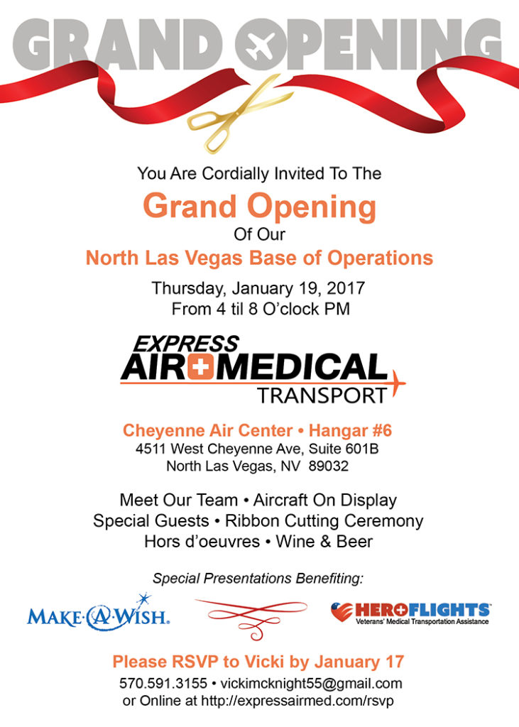 Vegas Grand Opening Express Air Medical Transport